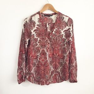 Zara Boho Inspired Tunic Blouse Size Small